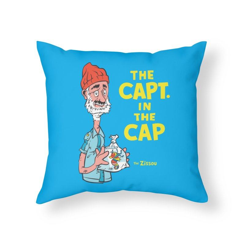 The Capt. in the Cap Home Throw Pillow by Threadless Artist Shop