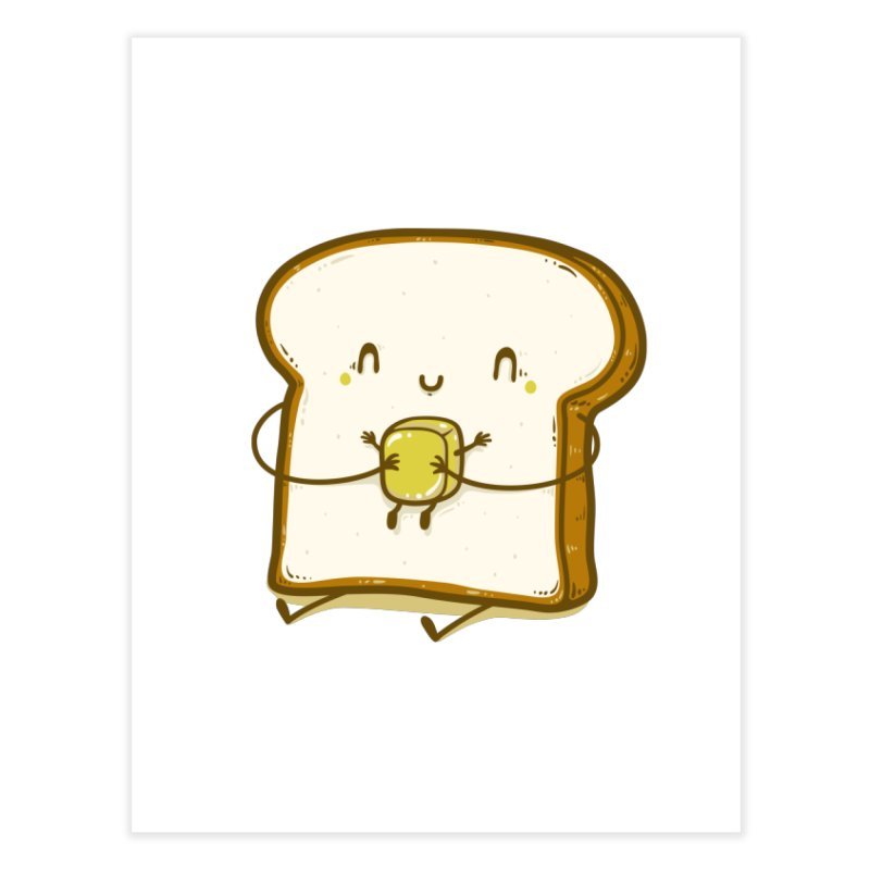 Bread and Butter Home Fine Art Print by Threadless Artist Shop