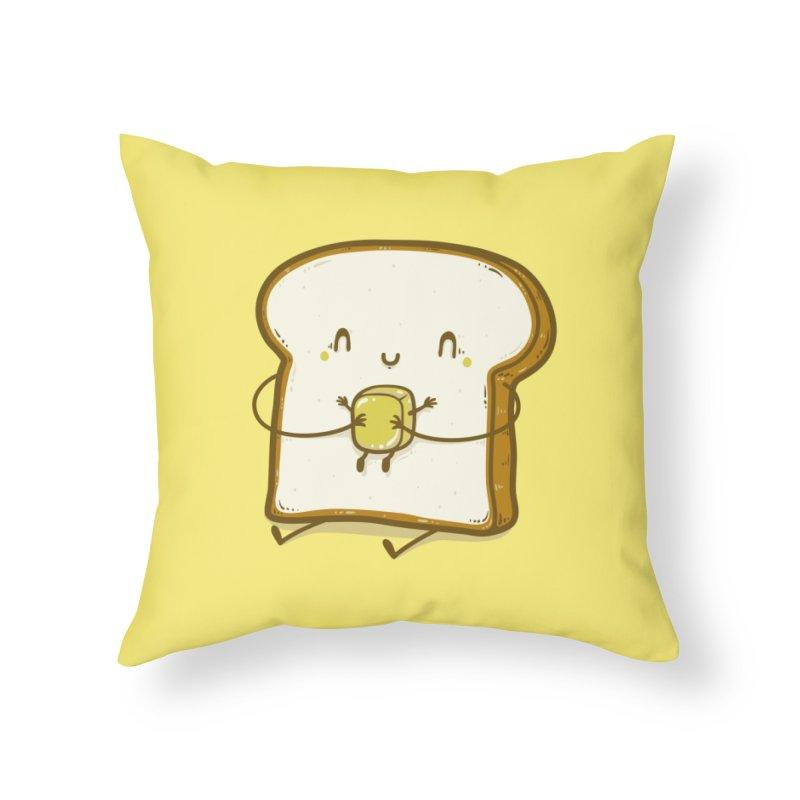 Bread and Butter Home Throw Pillow by Threadless Artist Shop