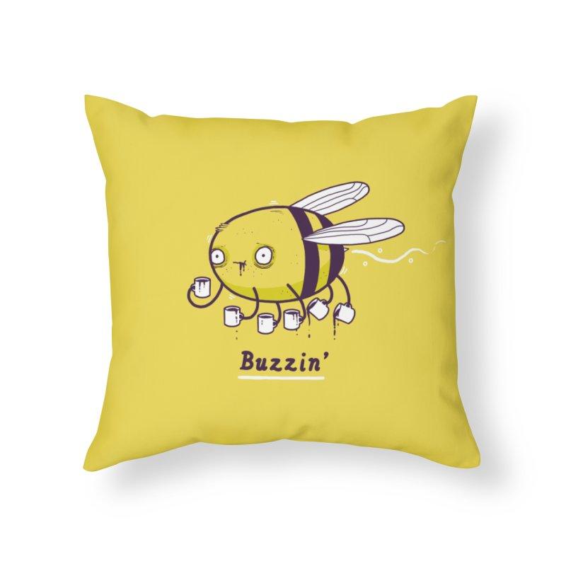 Buzzin' Home Throw Pillow by Threadless Artist Shop