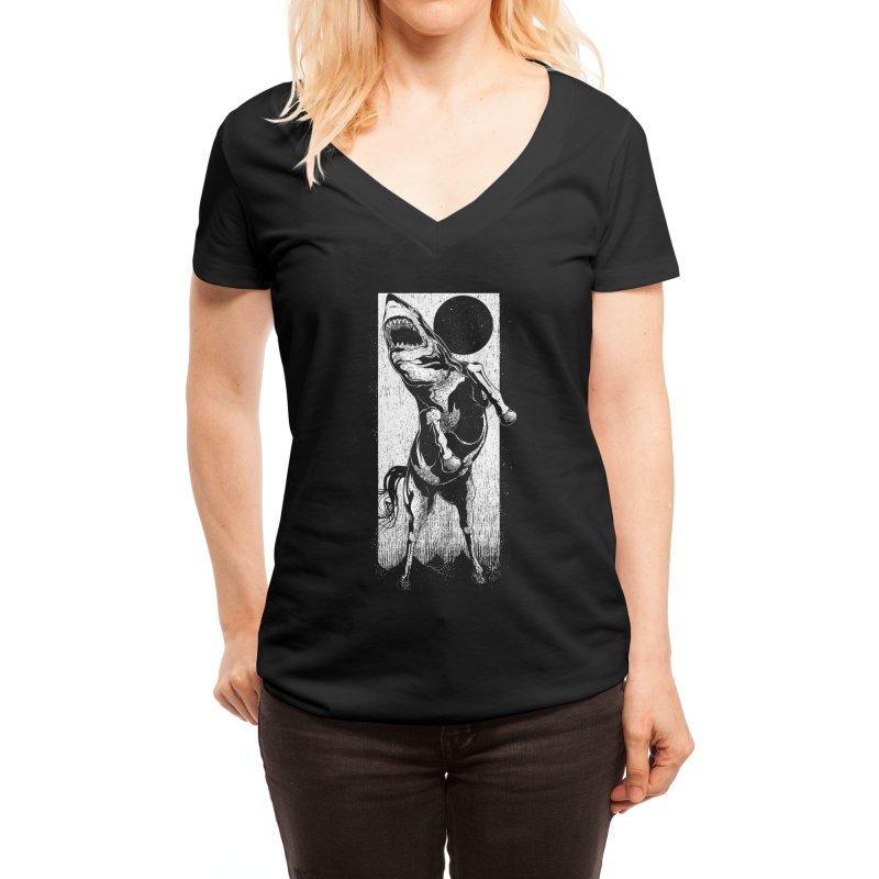 The Great White Stallion Women's V-Neck by Threadless Artist Shop