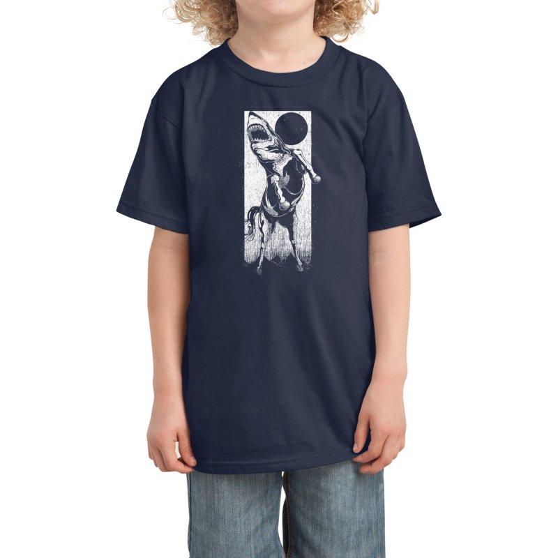 The Great White Stallion Kids T-Shirt by Threadless Artist Shop