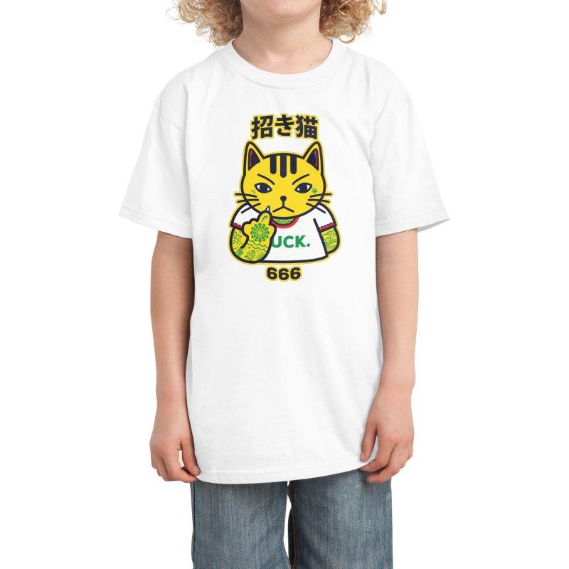 Unlucky Cat Kids T-Shirt by Threadless Artist Shop
