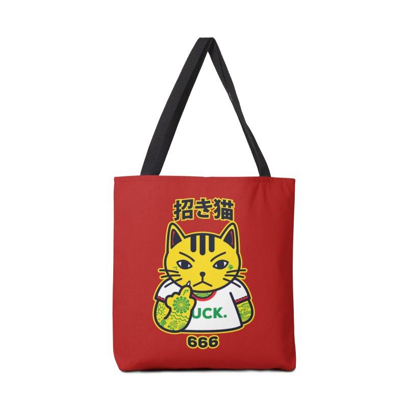 Unlucky Cat Accessories Bag by Threadless Artist Shop