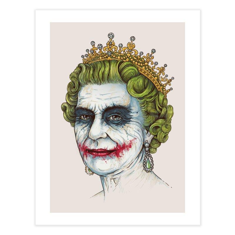 God Save the Villain! Home Fine Art Print by Threadless Artist Shop