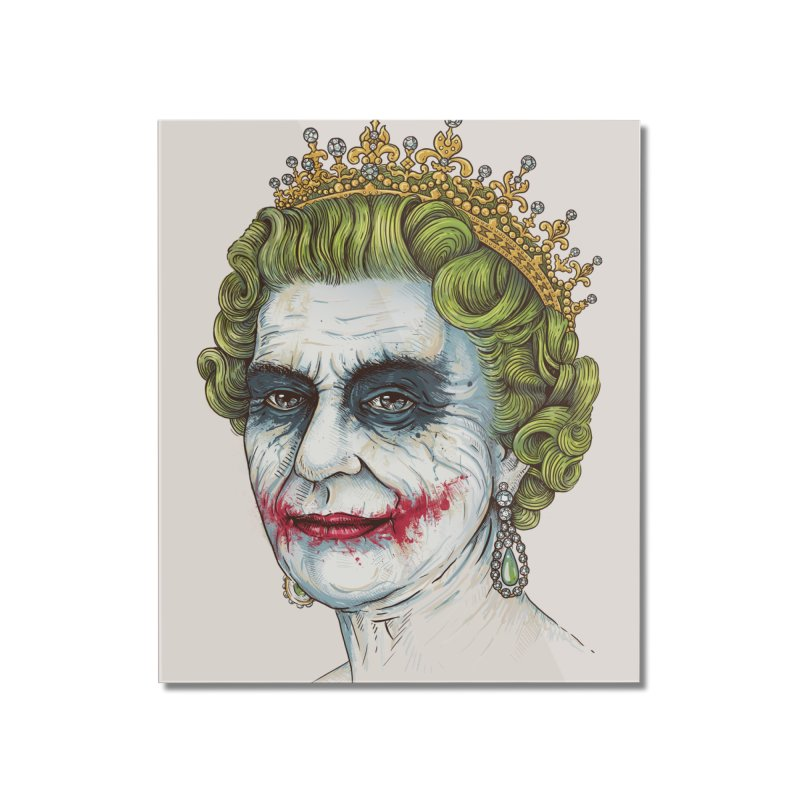 God Save the Villain! Home Mounted Acrylic Print by Threadless Artist Shop