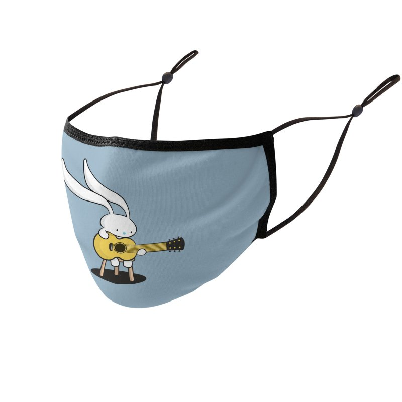 Bunny's Acoustic Set Accessories Face Mask by Threadless Artist Shop
