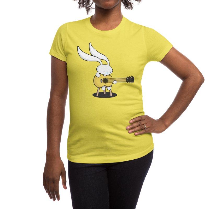 Bunny's Acoustic Set Women's T-Shirt by Threadless Artist Shop