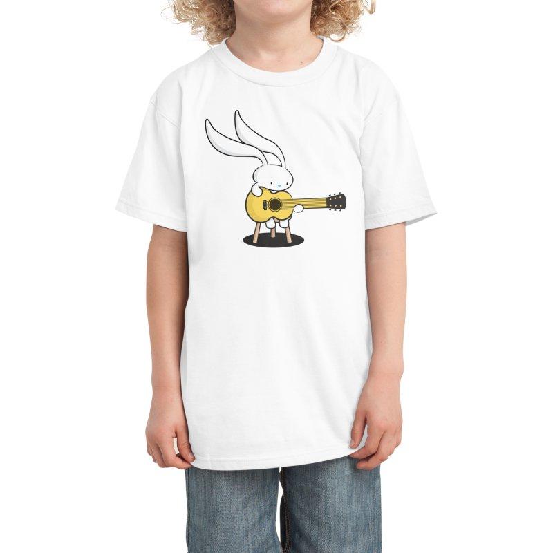 Bunny's Acoustic Set Kids T-Shirt by Threadless Artist Shop