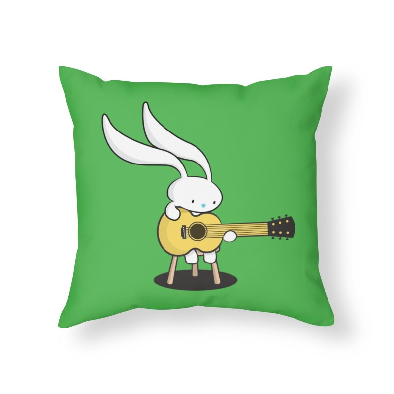 Bunny's Acoustic Set Home Throw Pillow by Threadless Artist Shop