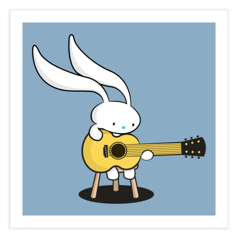Bunny's Acoustic Set Home Fine Art Print by Threadless Artist Shop