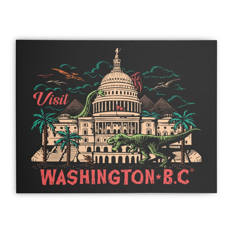 Washington B.C. Home Stretched Canvas by Threadless Artist Shop