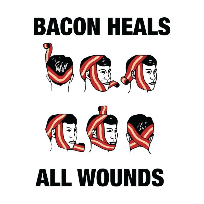 Bacon Heals Home Framed Fine Art Print by Threadless Artist Shop