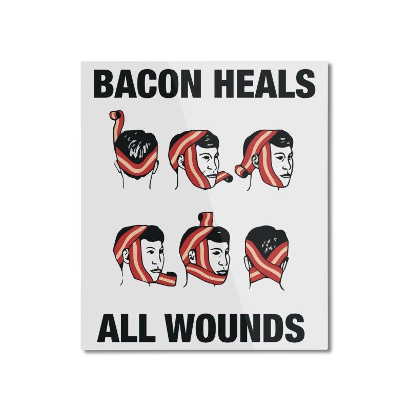 Bacon Heals Home Mounted Aluminum Print by Threadless Artist Shop