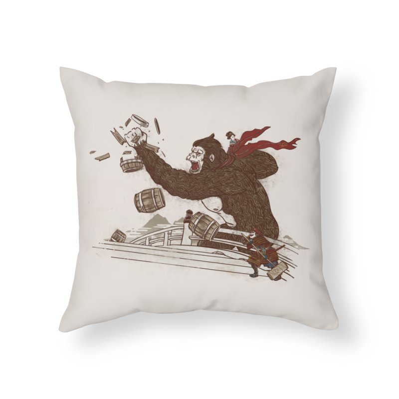 Big Trouble in Little Japan Home Throw Pillow by Threadless Artist Shop