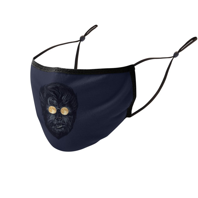 Moon Glasses Accessories Face Mask by Threadless Artist Shop