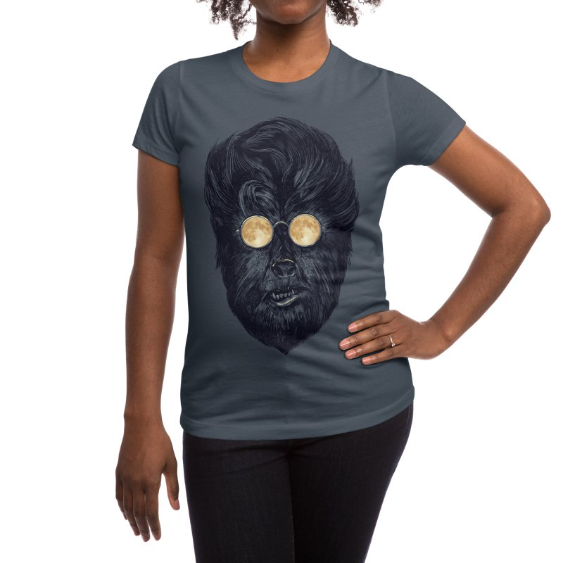 Moon Glasses Women's T-Shirt by Threadless Artist Shop