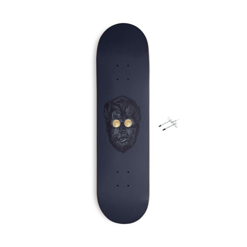 Moon Glasses Accessories Skateboard by Threadless Artist Shop