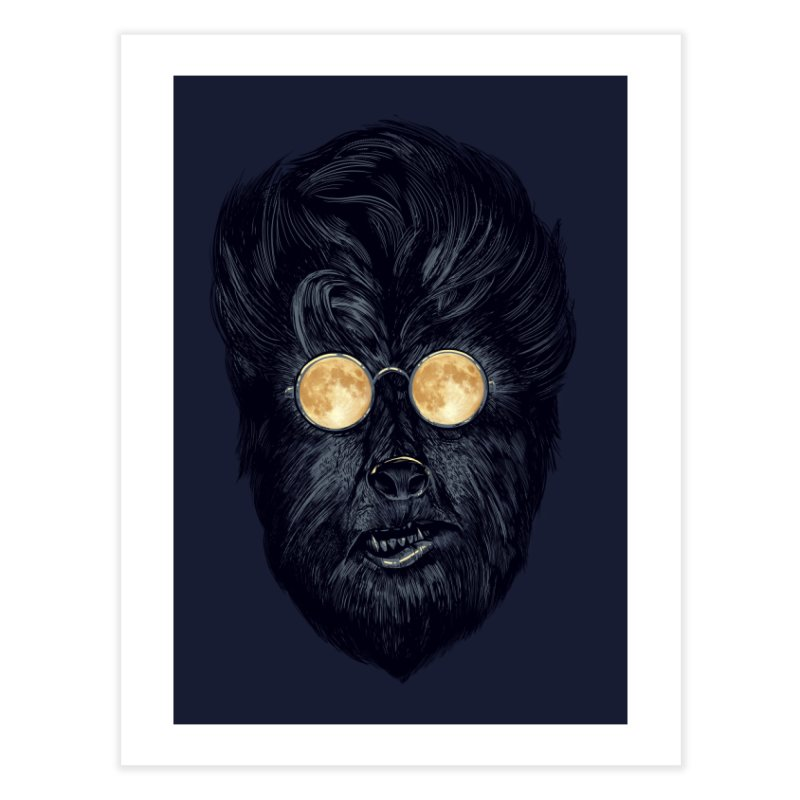 Moon Glasses Home Fine Art Print by Threadless Artist Shop