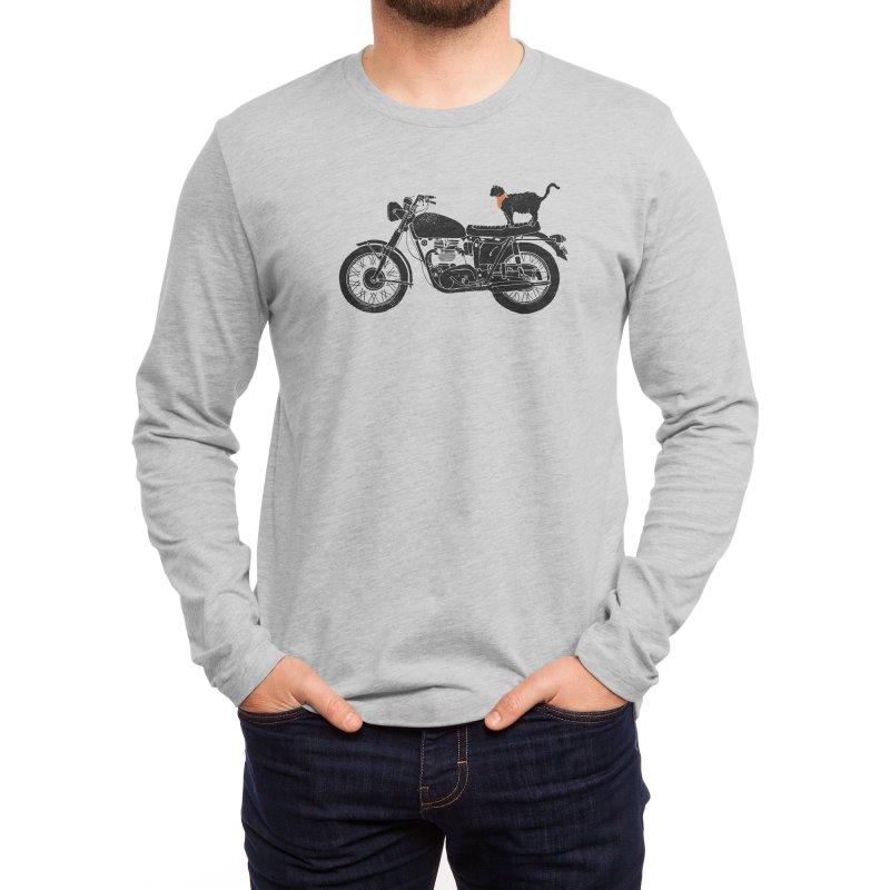 Purrfect Roadtrip... Men's Longsleeve T-Shirt by Threadless Artist Shop