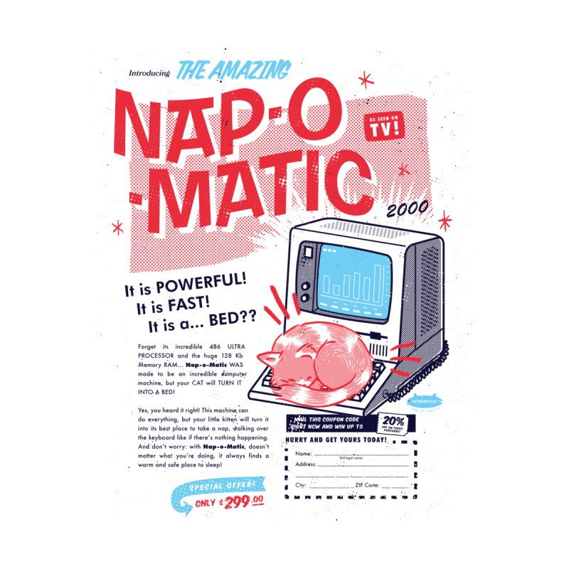 Nap-o-Matic =^.^= Men's T-Shirt by Threadless Artist Shop