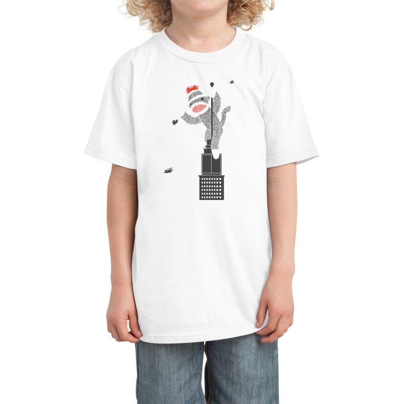 Sock Monkey Just Wants a Friend Kids T-Shirt by Threadless Artist Shop