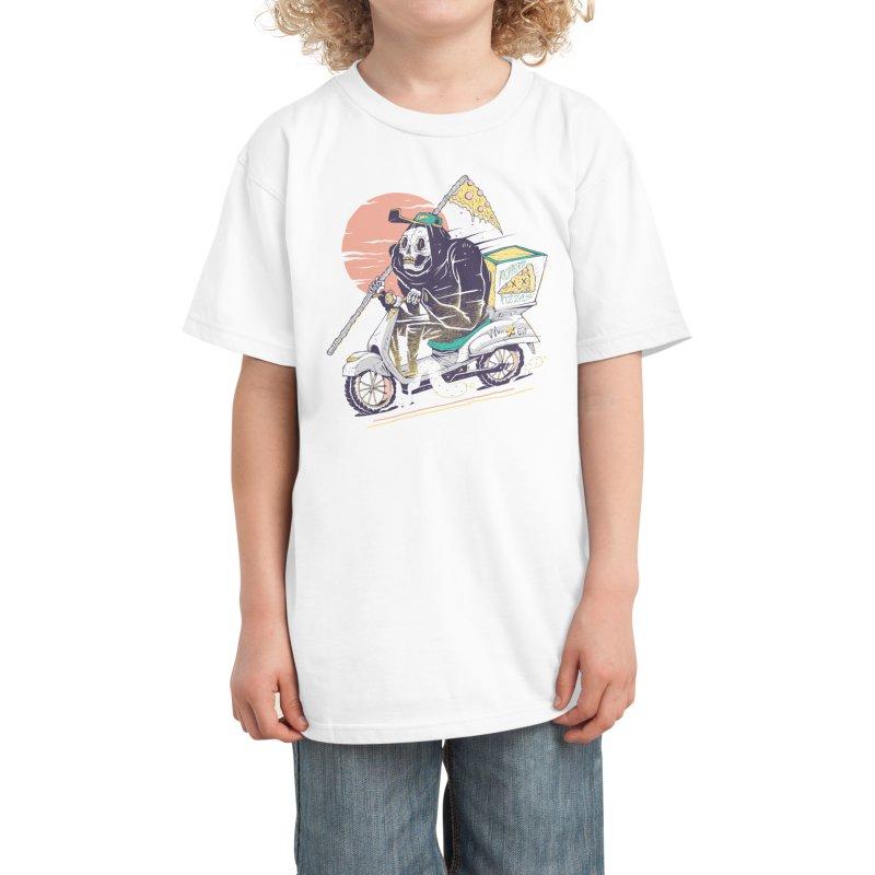 Reaper's Pizza Kids T-Shirt by Threadless Artist Shop