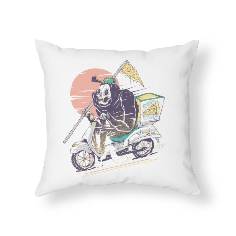 Reaper's Pizza Home Throw Pillow by Threadless Artist Shop