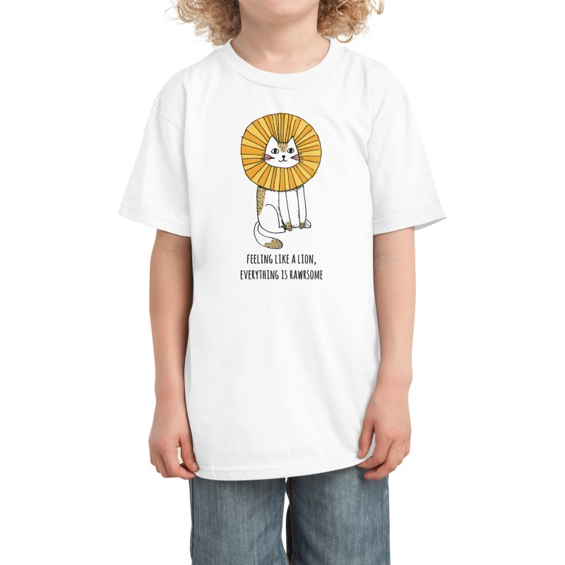 Everything is Rawrsome Kids T-Shirt by Threadless Artist Shop