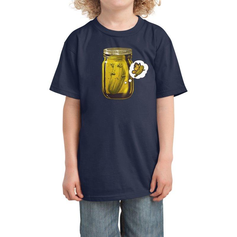 Pickle Metamorphosis Kids T-Shirt by Threadless Artist Shop