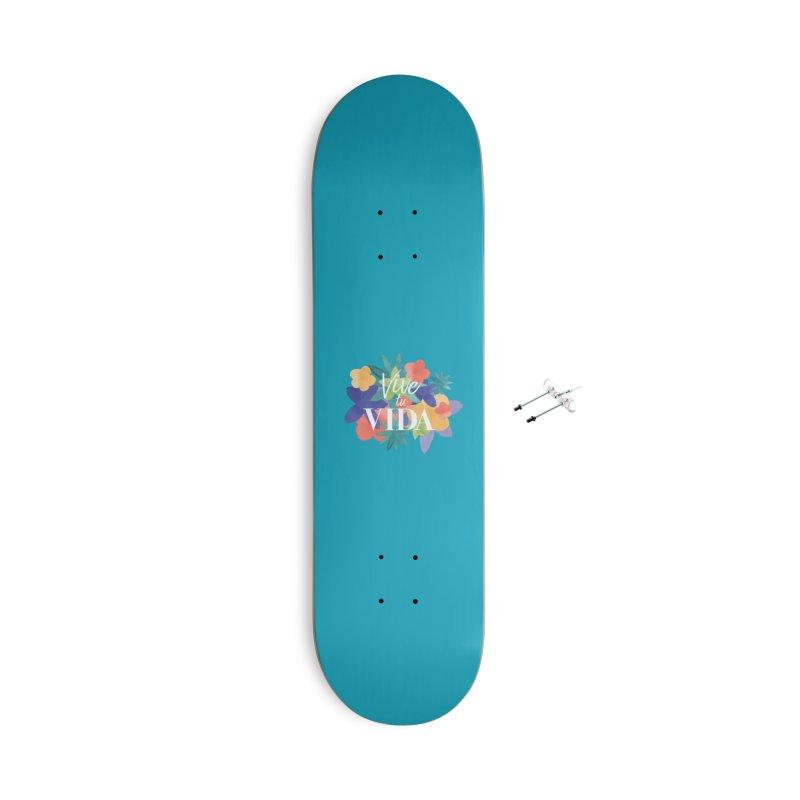 Vive tu Vida (Live Your Life) Accessories Skateboard by Threadless Artist Shop