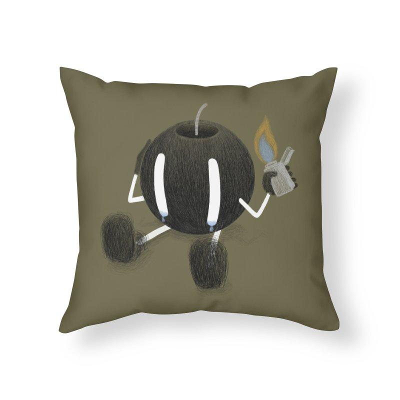 Self Destruction Home Throw Pillow by Threadless Artist Shop