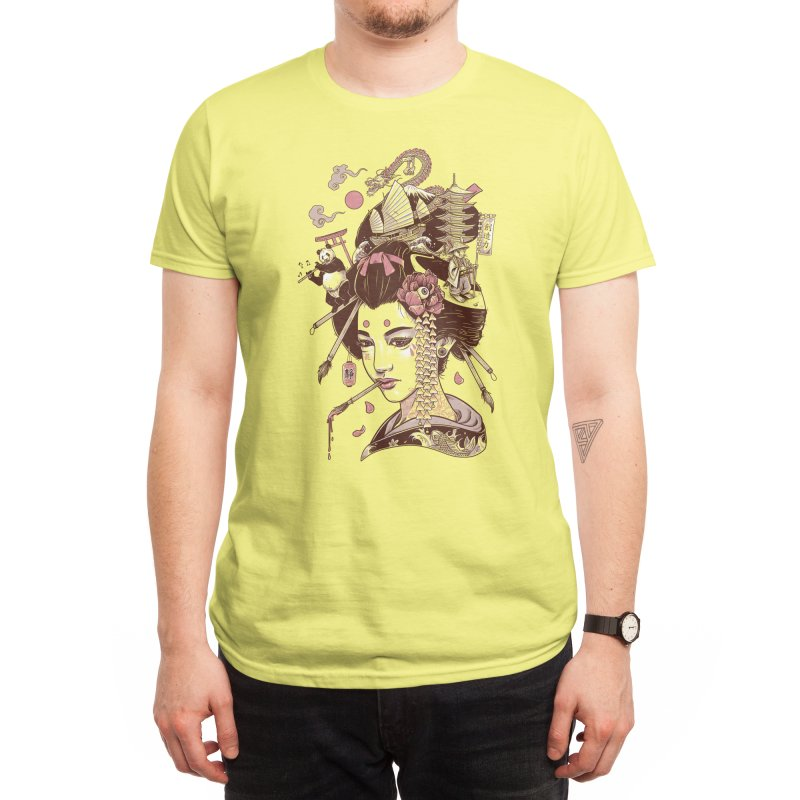 There's a dragon on Mount Fuji Men's T-Shirt by Threadless Artist Shop