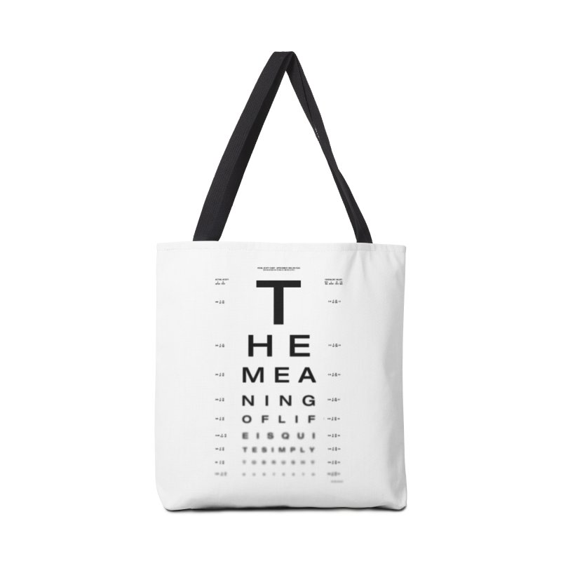 The Meaning of Life Accessories Bag by Threadless Artist Shop