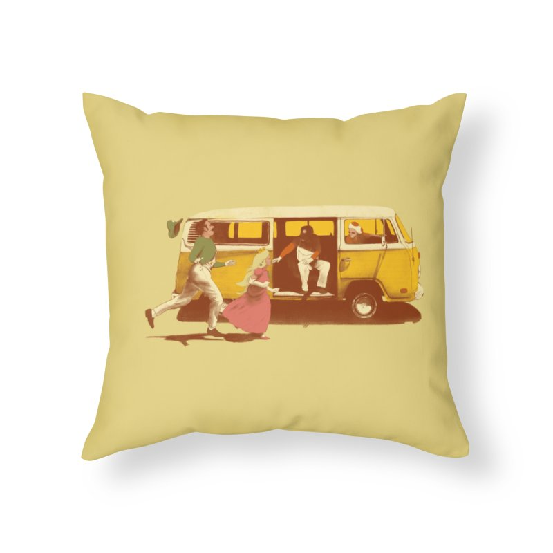 Sunshine Home Throw Pillow by Threadless Artist Shop