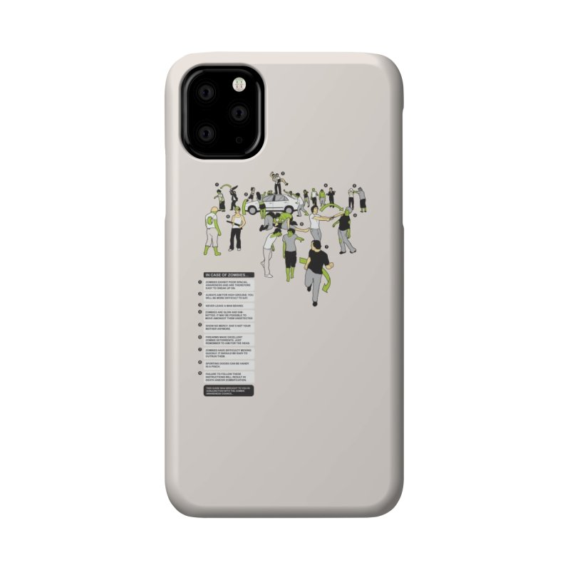 In Case of Zombies Accessories Phone Case by Threadless Artist Shop
