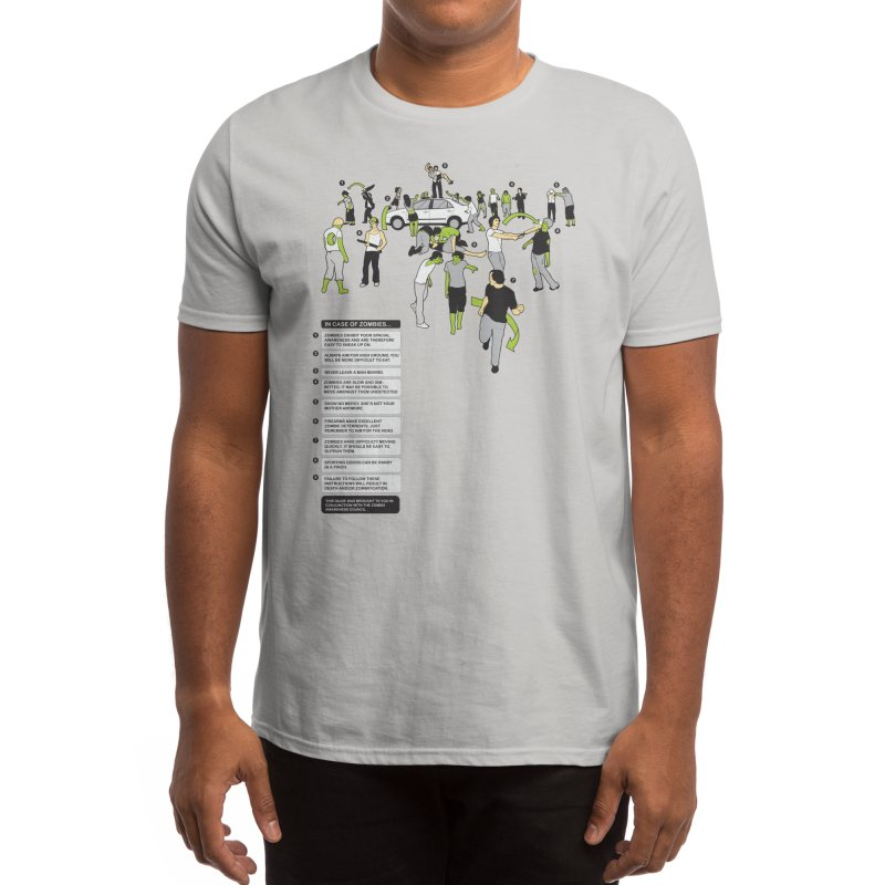 In Case of Zombies Men's T-Shirt by Threadless Artist Shop