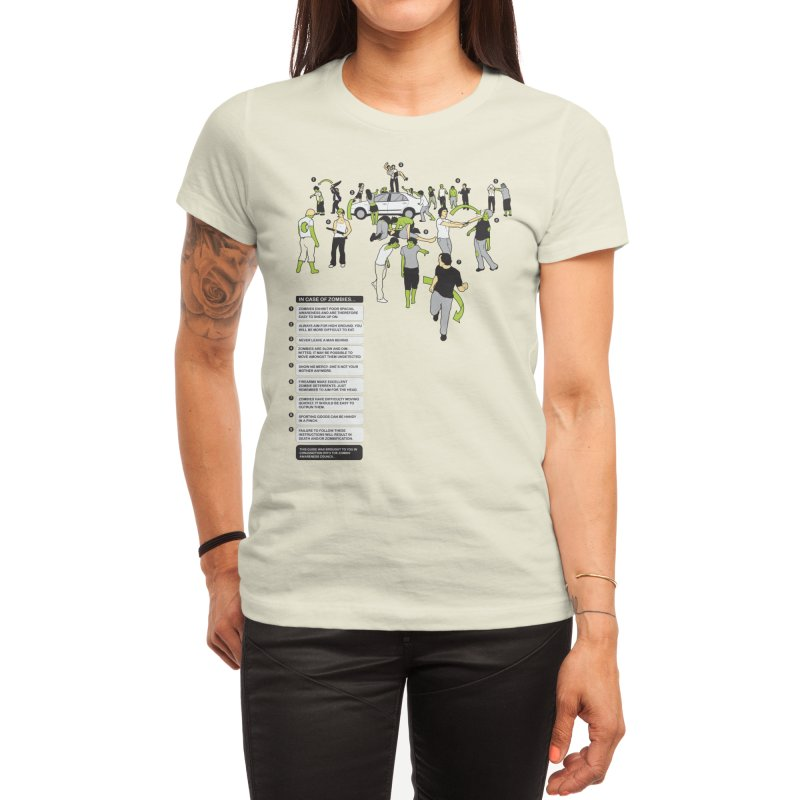 In Case of Zombies Women's T-Shirt by Threadless Artist Shop
