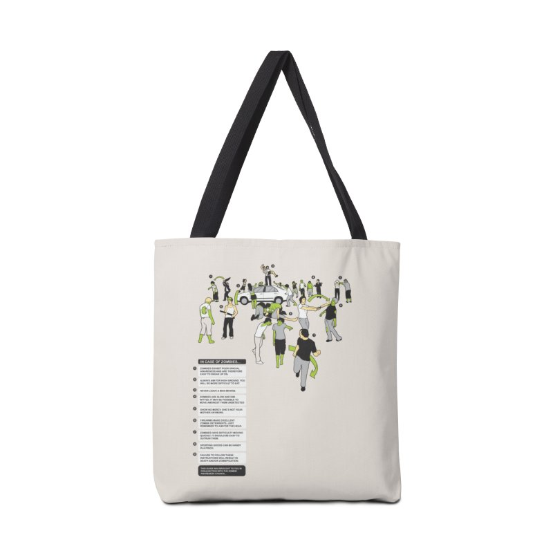 In Case of Zombies Accessories Bag by Threadless Artist Shop
