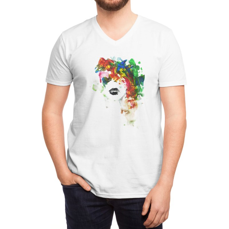 BLACK LIPS Men's V-Neck by Threadless Artist Shop