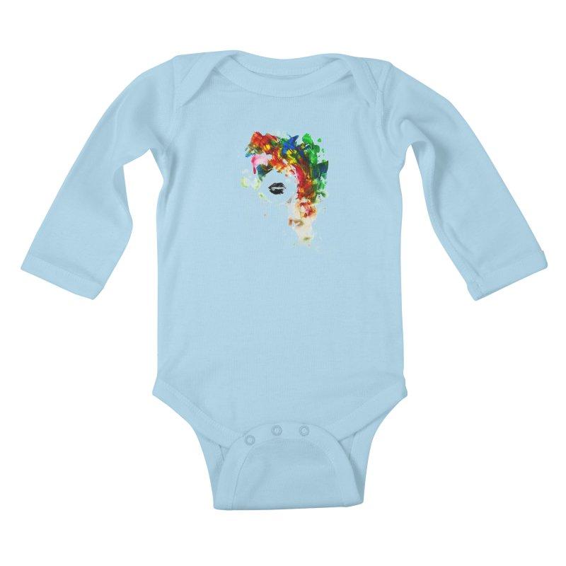 BLACK LIPS Kids Baby Longsleeve Bodysuit by Threadless Artist Shop