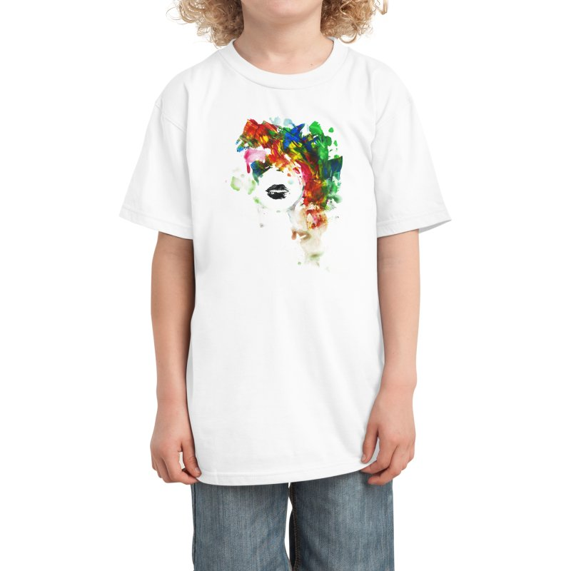 BLACK LIPS Kids T-Shirt by Threadless Artist Shop