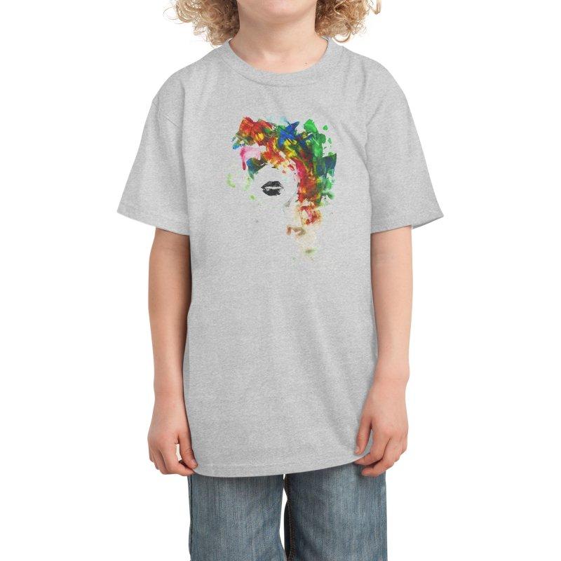 BLACK LIPS Kids T-Shirt by Threadless Artist Shop