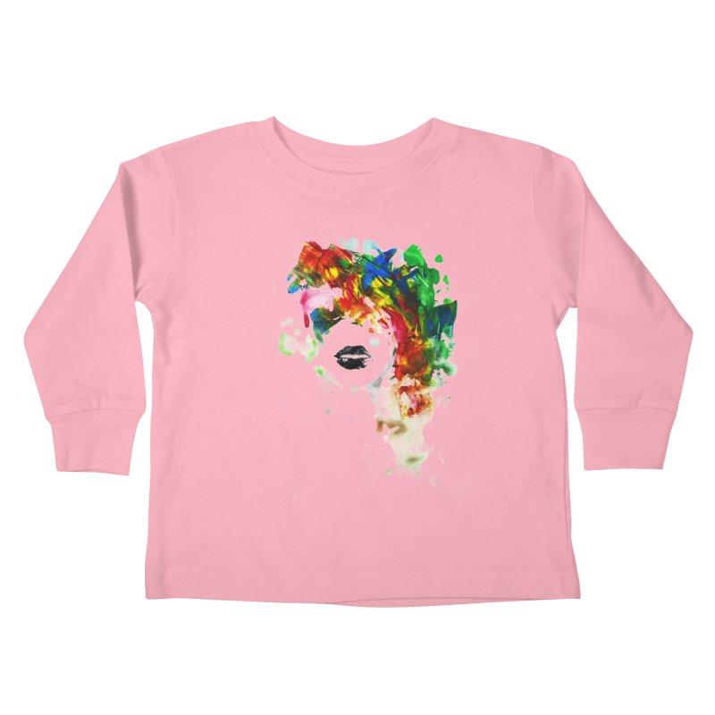 BLACK LIPS Kids Toddler Longsleeve T-Shirt by Threadless Artist Shop