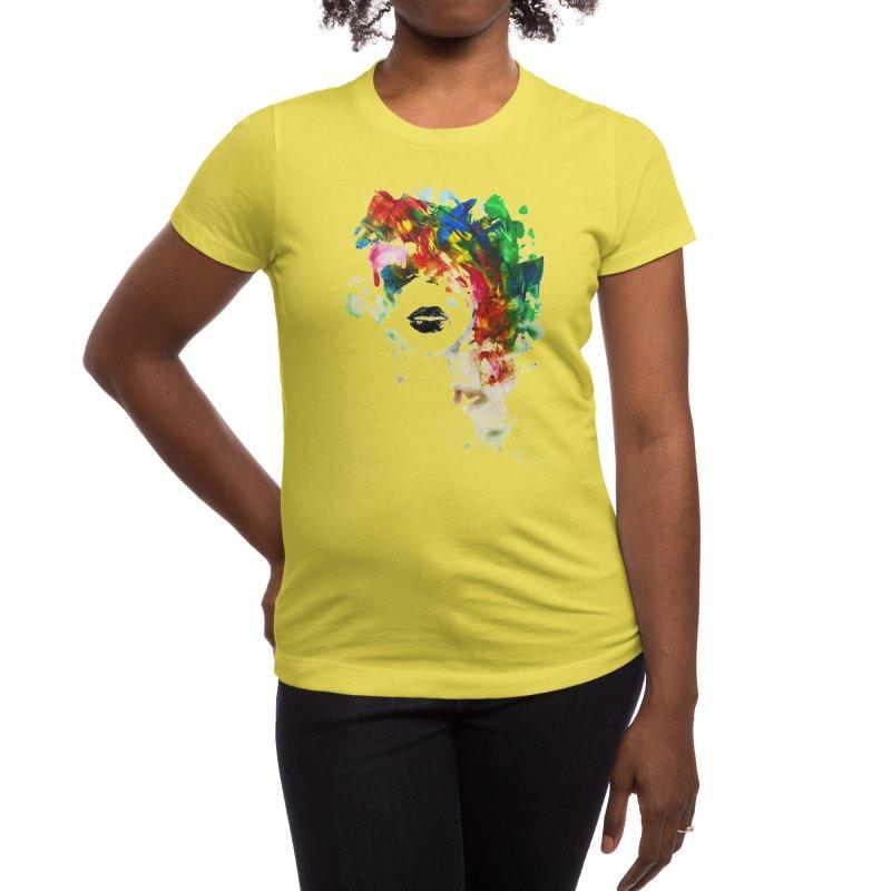 BLACK LIPS Women's T-Shirt by Threadless Artist Shop