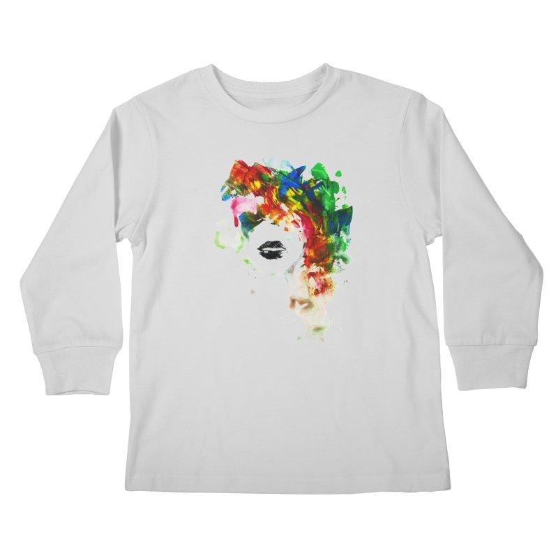 BLACK LIPS Kids Longsleeve T-Shirt by Threadless Artist Shop
