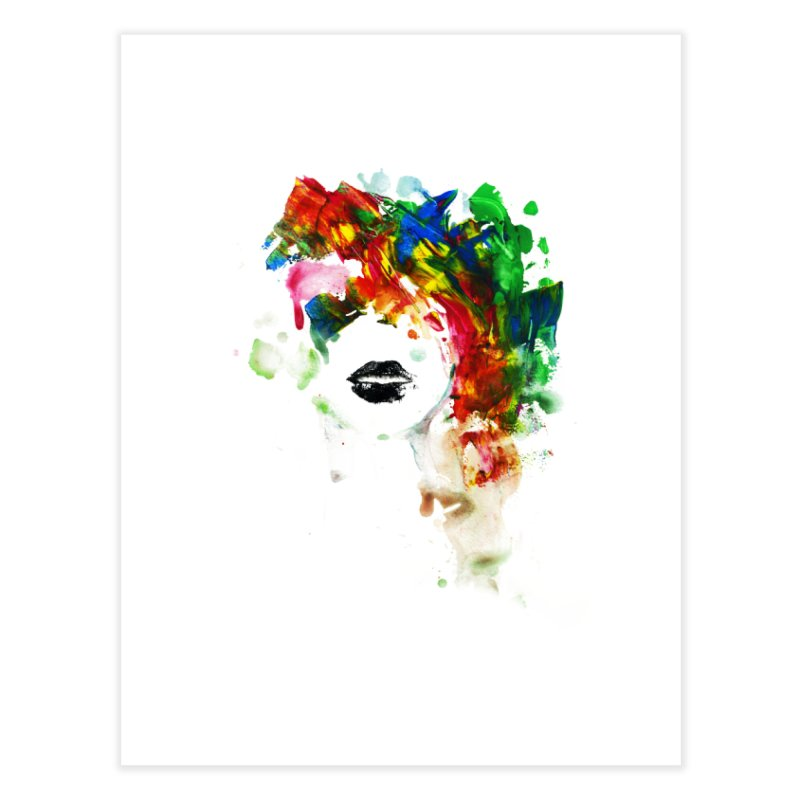 BLACK LIPS Home Fine Art Print by Threadless Artist Shop