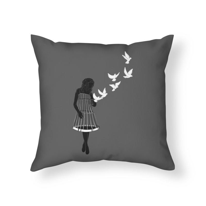Freed Home Throw Pillow by Threadless Artist Shop