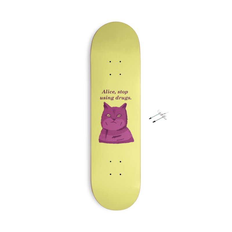 Stop, Please! Accessories Skateboard by Threadless Artist Shop