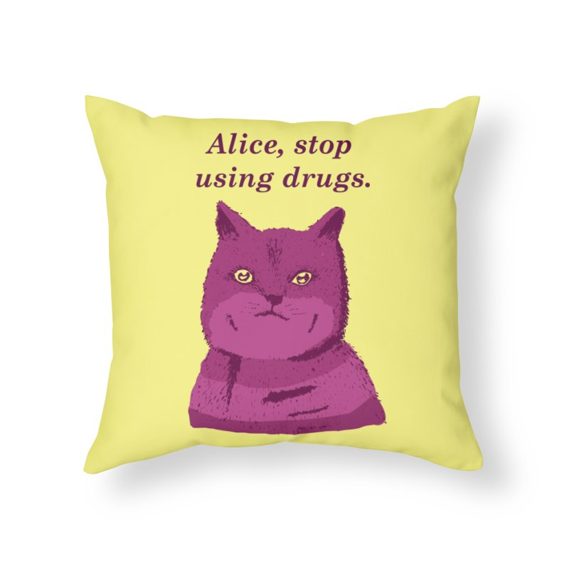 Stop, Please! Home Throw Pillow by Threadless Artist Shop